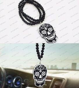 Fashion Sugar Skull Car Auto Rearview Pendant Ornament Dangle Hanging Charm New