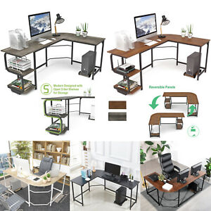 L shaped Corner Desk Computer Gaming Desk Pc Table Home Office Workstation