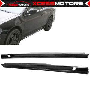 Fits 98 02 Honda Accord 2dr Coupe Poly Urethane Side Skirt Add On Bodykit Parts