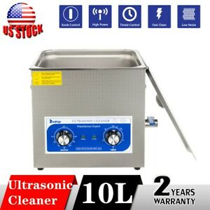 Stainless Steel 10l Liter Industry Heated Ultrasonic Cleaner Heater Tank W timer