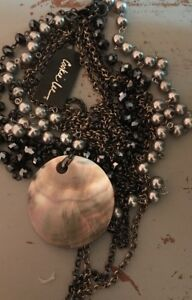 Cookie Lee Shell Pendant Necklace Multi Strand Necklace $20.99