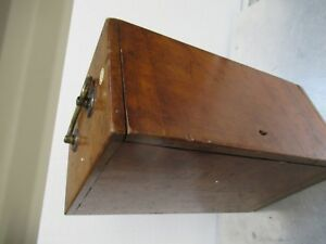 Antique Empty Wood Box Case Beck London Uk Microscope Part As Pictured tb 5 2