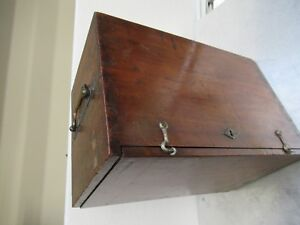 Antique Empty Wood Box Case Lemardeley France Microscope Part As Pictured tb 5