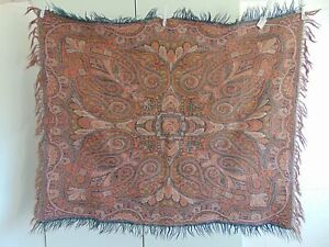 Antique Folklore Dutch Paisley Shawl Or Bietkleed