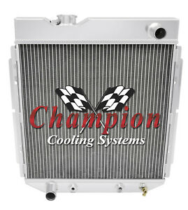 2 Row Kool Champion Radiator For 1965 1966 Ford Mustang L6 Engine