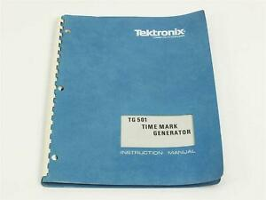 Tektronix Tg501 Time Mark Generator Instruction Manual Original Reprint 1976
