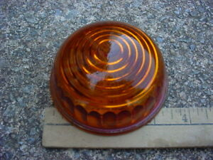 30s 40s 50s Maybe Amber Glass Clearance Park Marker Lamp Lens