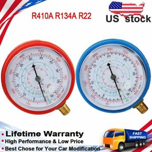 A C Pressure Gauge Low High For Refrigerant R134a R404a R22 Degree Celsius Scale