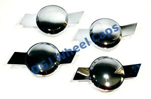 Chevy Type Bowtie Chrome Smooth Knock off Spinners For Lowrider Wire Wheels