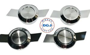 Chevy Type Bowtie Chrome Cut Knock off Spinners For Lowrider Wire Wheels