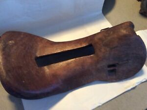 Antique Wooden Horse Saddle Primitive Equestrian 19 X 9 X 6 With Pony Tack