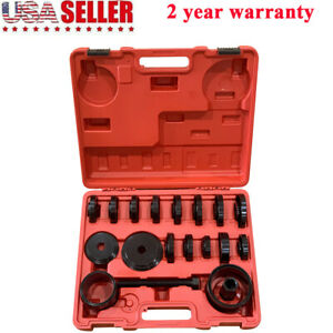 23pc Front Wheel Drive Bearing Press Tool Removal Adapter Puller Pulley Set Case
