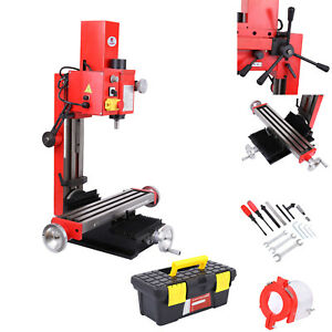 Mini Milling Drilling Machine Digital Display 120 2500rpm Gear Drive Variable