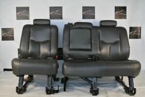2003 2004 2005 2006 Chevrolet Avalanche Rear Seats Black Leather