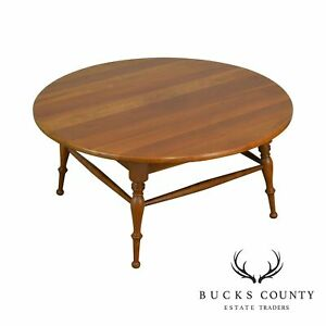 Traditional Solid Cherry Vintage 34 Round Revolving Top Coffee Table