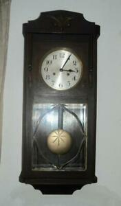 German Antique Wall Clock In Great Working Condition