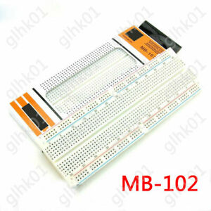 1x Mb 102 Breadboard 830 Point Solderless Prototype Pcb Test Board 165 55 10mm