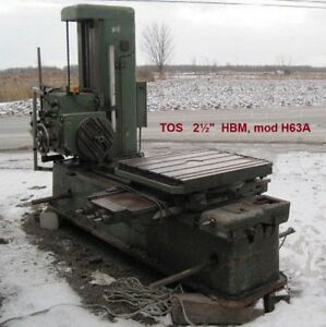 Tos 2 1 2 Inch Horizontal Boring Mill Table Type Facing Head Tailstock H63 A