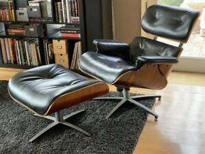 Vintage Eames Plycraft Lounge Chair And Ottoman