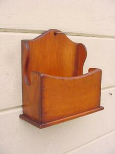 Vintage Pine Kitchen Candle Wall Box Or Pocket Great Glowing Pine Patina