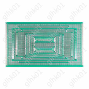 Double Sided Universal Pcb Circuit Board Full Fiber Glass Drilled Hole 2 54mm