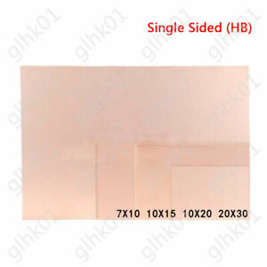Single Sided Copper Clad Plate Pcb Circuit Board Hb 7 10 10 15 10 20 20 30cm