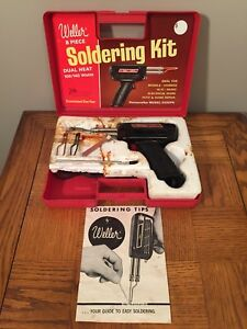 Weller Soldering Gun Kit 8200n Dual Heat 100 140 Plastic Storage Case Apex Nc