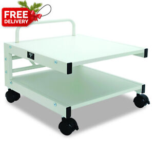Balt Low Laser Printer Stand 27501 14 h X 17 w X 17 d Brushed Silver