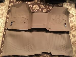 Weathertech Floorliner Mats For 2014 2018 Silverado Sierra Crew Cab Oth Tan Set