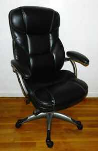 Osgood Black Leather Bonded High Back Executive Manager Office Desk Chair 21076