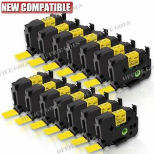 20pk Black On Yellow Label Tape 18mm For Brother P touch Tz 641 Tze 641 Us Stock