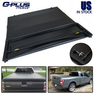 Four Fold Folding Truck Bed Tonneau Cover For 2004 2008 Ford F 150 8ft Long Bed