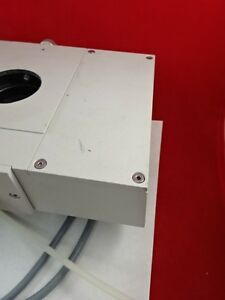 Polyvar Reichert Leica Head With Cables Microscope Optics As Pictured