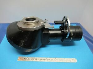 Leitz Germany Nosepiece Dark Phase Rare Optics Microscope Part As Is