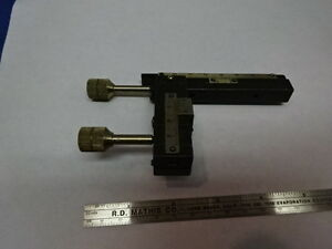 For Parts Vintage Brass Antique Clips Stage Micrometer Microscope As Is 83 59