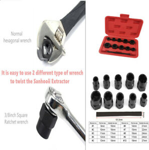 10pcs Safe Removal Tool Bolts Set For Locking Car Wheel Nuts Bolts