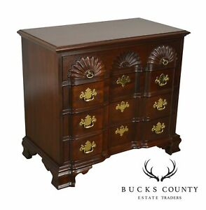 Link Taylor Heirloom Solid Mahogany Chippendale Block Front Chest Of Drawers