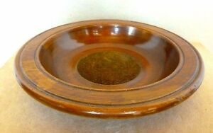 Scarce Vintage Miniature Wood Treen Church Collection Plate Alms Dish Bowl