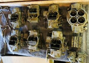 Holley Quadrajet Carburator Parts Lot Collection Corvette 4 Sp