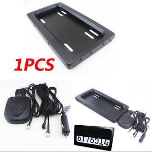 1x Hide Away Shutter Cover Up Electric Stealth Usa License Plate Frame W Remote