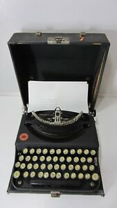 Antique Remington Portable Typewriter Working W Case