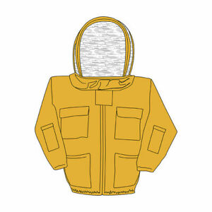 Harvest Lane Honey Bee Keepers Jacket Includes Protective Hood Size Small