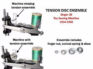 Singer 20 Toy Child S Sewing Machine Parts Tension Spring Disc Ensemble