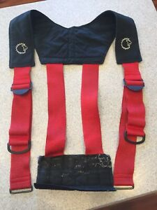 Firefighter Suspenders Red Padded H Style Style Turnout Bunker Pant Lion Apparel