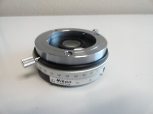A1 Nikon Rotating Intermediate Pol Polarizer Analyzer Labophot Microscope