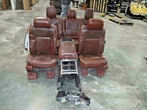 2011 2016 Ford F250 F350 Front Rear Seat Set King Ranch Brown Leather Complete