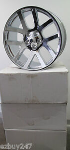 22 Viper Style Dodge Challenger Charger Chrysler 300 Set Of Chrome Wheels Rims