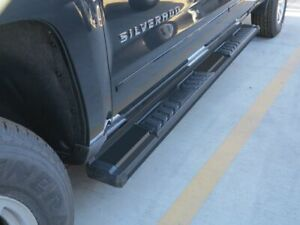 6 Black Running Boards For 07 19 Chevy Silverado Gmc Sierra Extended double Cab
