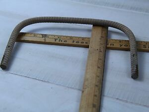 Vintage Wicker Baby Carriage Buggy Doll Stroller Top Cover Bent Wood Frame
