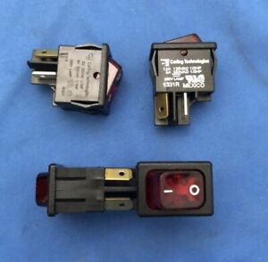 Carling Technologies Lot Of 4 632422 213 ke Switch Rocker On Off